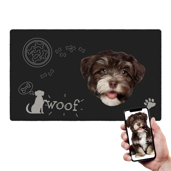 Custom Funny Doormat Dog Food Doormat With Your Pet Photo