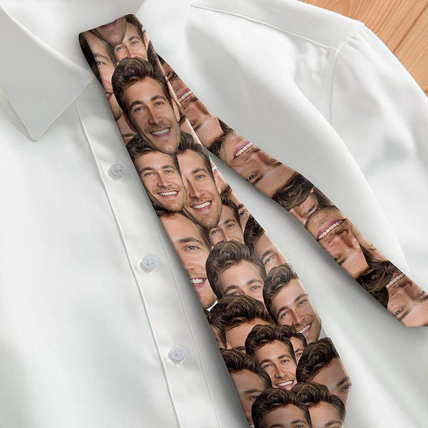 Custom Photo Necktie Father's Gifts Face Tie