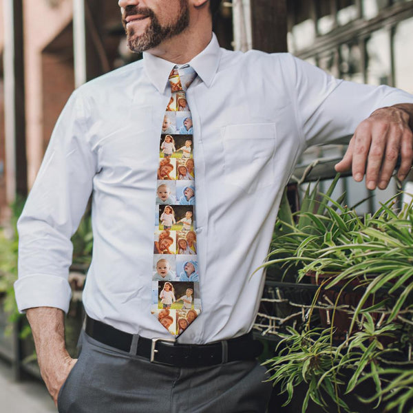 Custom Tie Photo Tie Personalized Necktie Gift For Dad Picture Tie Face Tie Fathers Day Gift