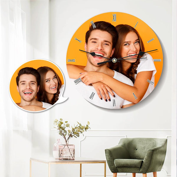 Custom Photo Clock Round Clock Gifts for Lover 25*25cm