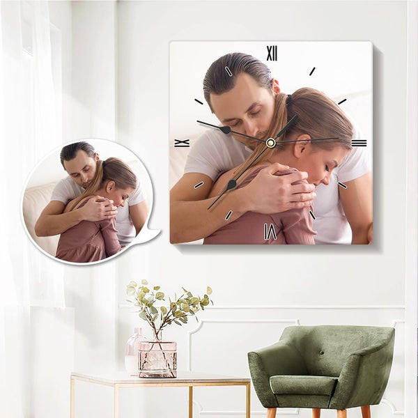 Custom Photo Wall Clock Square Clock 20*20cm for Lover