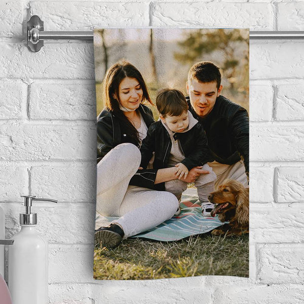 Custom Photo Towel Fiber Towel 3 Size for Family