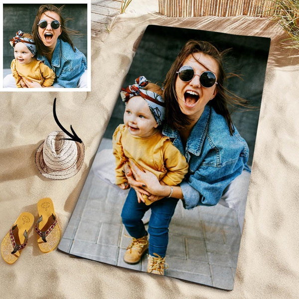 Customized Photo Personalized Beach Towel Gift Pool Towel for Family 150*145cm