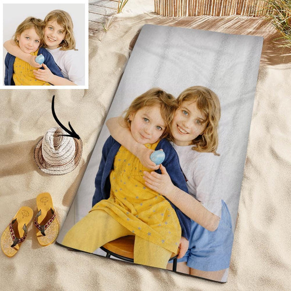 Customized Photo Personalized Beach Towel Gift Beach Vacation Towel for Friends 150*145cm
