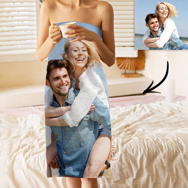Custom Photo Bath Towels Beach Towels Ultrafine Fiber for Couple