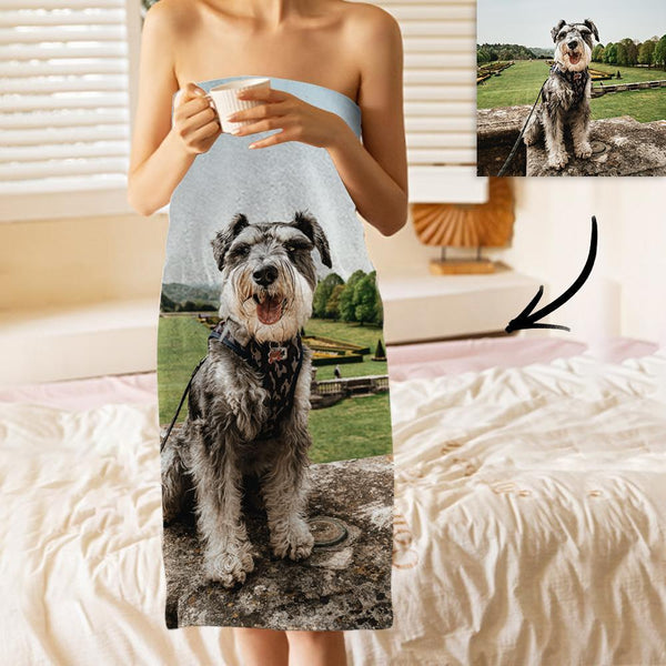 Custom Photo Bath Towels Beach Towels Ultrafine Fiber for Pet Lovers