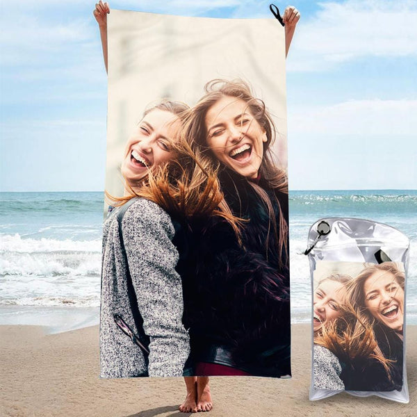Personalized Bath Towels Custom Print Beach Towels Quick-dry Ultrafine Fiber with My Girl