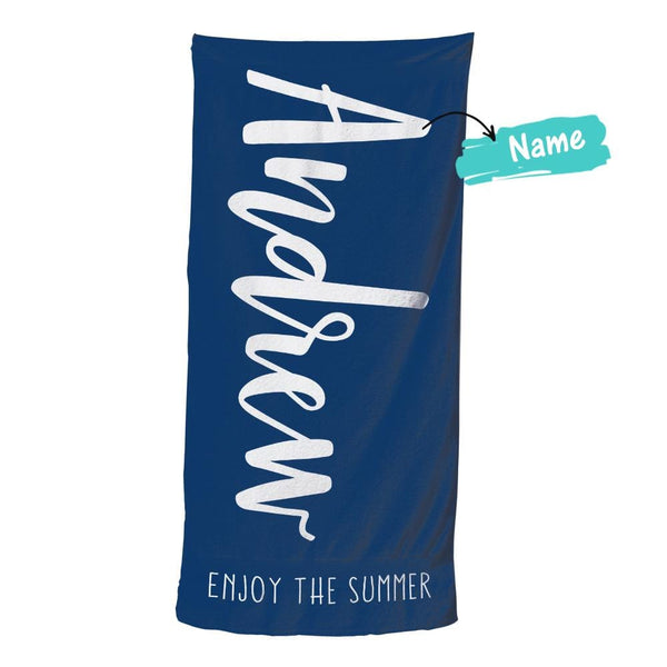 Custom Text Beach Towel For Unisex Towel For Polyester Bath Towel 31.2in*50.7in