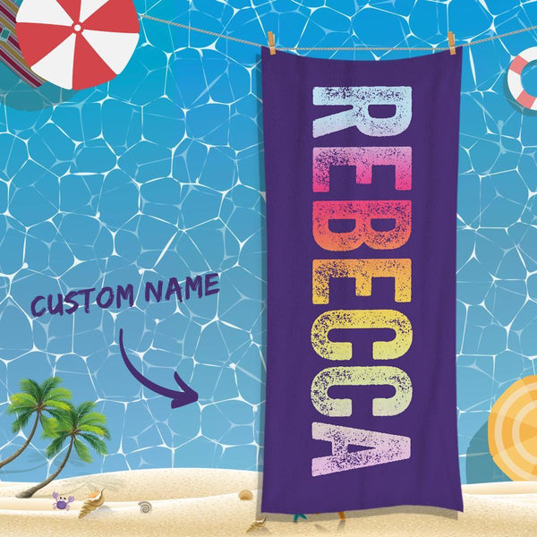 Custom Text Absorbent Towel For Unisex Towel For Souvenir Gift