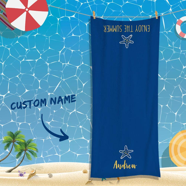 Custom Text Towel For Unisex Towel For Super Absorbent Towel