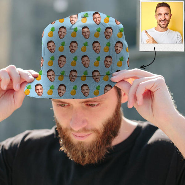 Custom Face Cap Unisex for Summer Cap for Travel Pineapple Cap