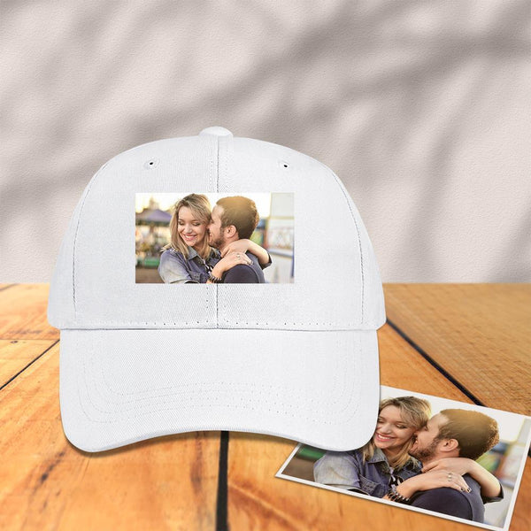 Custom Photo Baseball Cap White