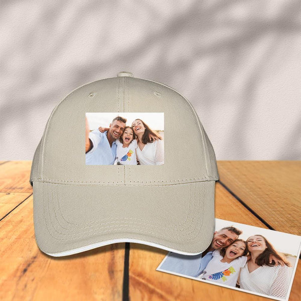 Custom Photo Baseball Cap Khaki