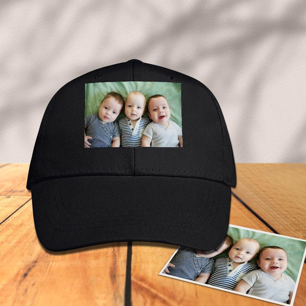 Custom Photo Baseball Cap Black for Sports
