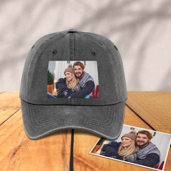 Custom Photo Baseball Cap Grey