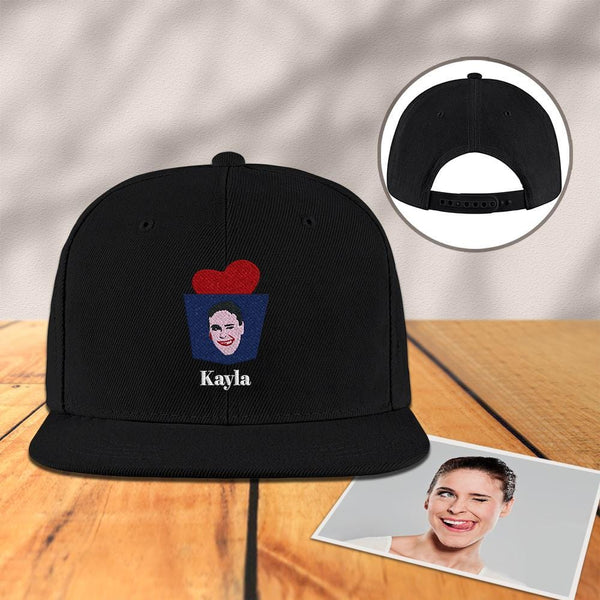 Custom Engraved Photo Baseball Cap Black