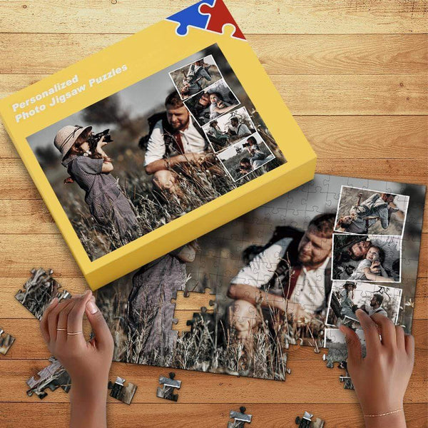 Custom Photo Puzzle with Free Box Picture Gifts 35-1000pcs