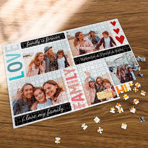 Custom Photo Jigsaw Puzzle My Best Family 35-1000 Piece Jigsaw