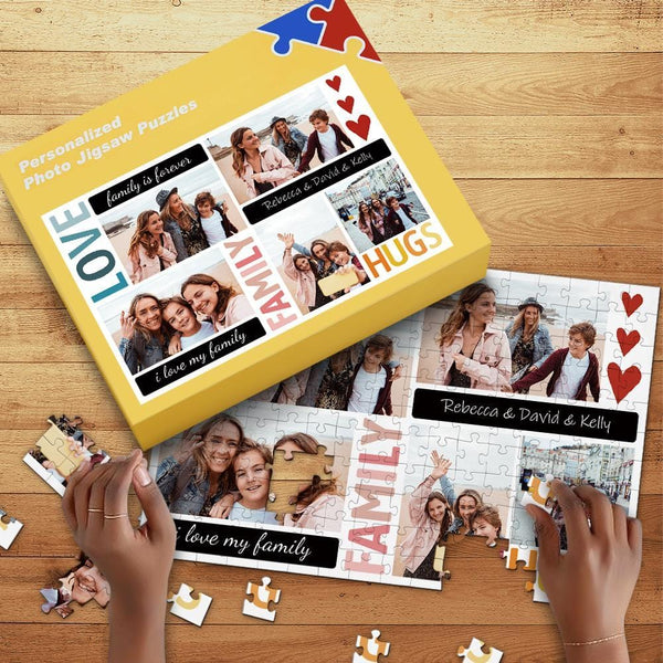 Custom Photo Jigsaw Puzzle for Family with Box 35-1000pcs