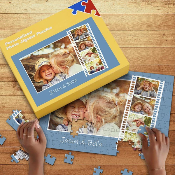 Custom Photo Jigsaw Puzzle for Baby with Box 35-1000 Piece Jigsaw