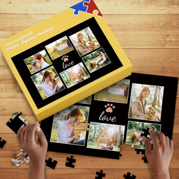 Dog Memorial Gift Photo Jigsaw Puzzle 35-1000pcs with Box