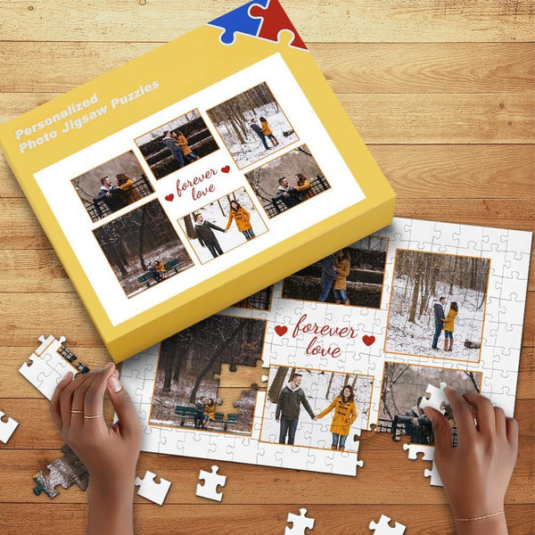 Custom Photo Jigsaw Puzzle 35-1000pcs for Lover with Box