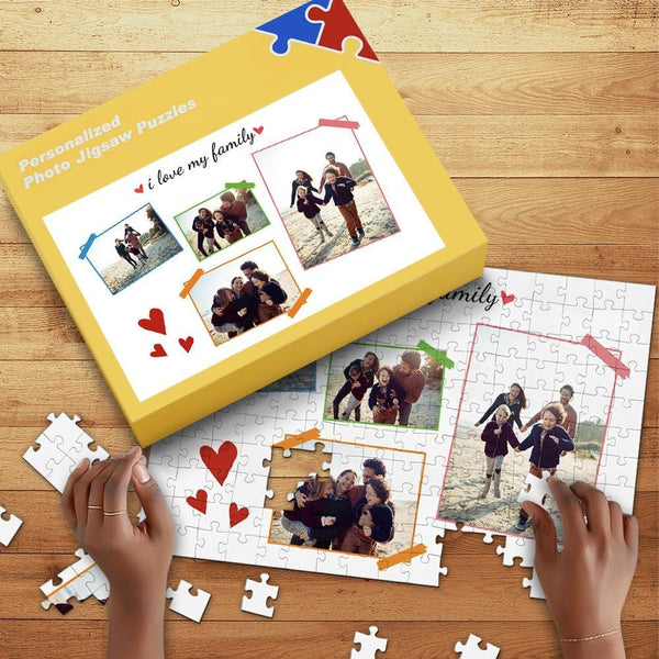 Custom Photo Jigsaw Puzzle Father's Gifts 35-1000pcs with Box