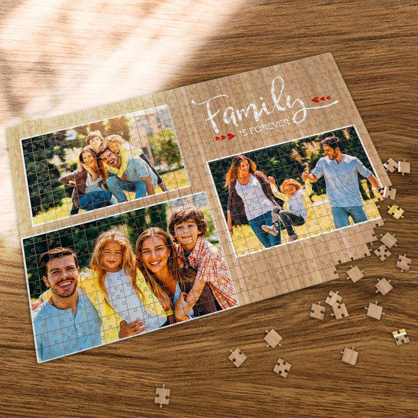 Custom Photo Jigsaw Puzzle Family is Forever 35-1000 Piece Jigsaw