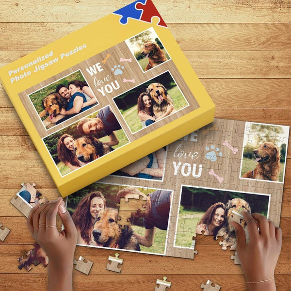 Custom Photo Puzzle Personalized Puzzle with Box 35-1000 Piece Jigsaw