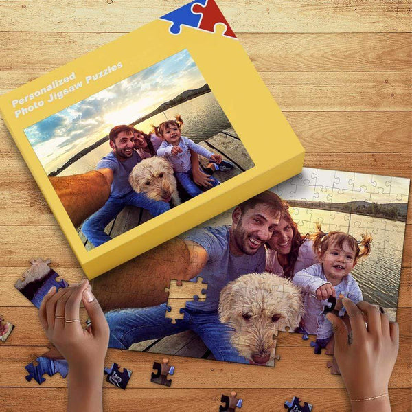 Custom Photo Jigsaw Puzzle with Box Family Gift 35-1000 Piece Jigsaw