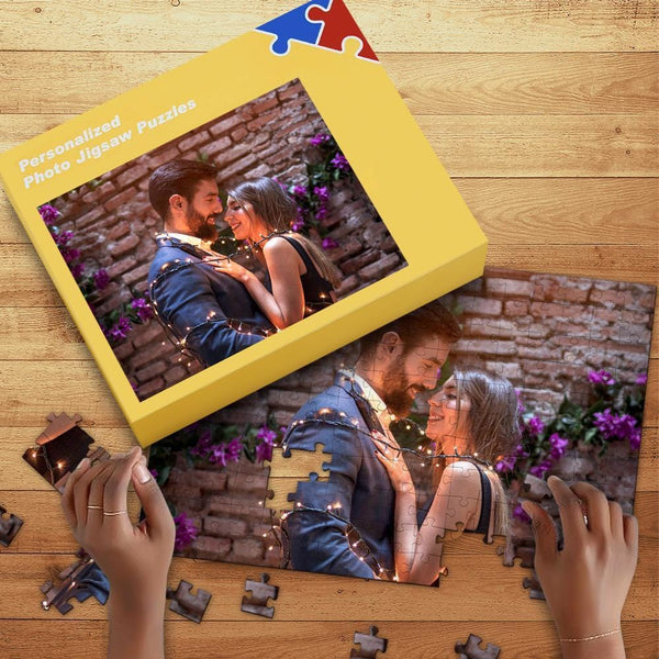 Custom Anniversary Gift Photo Jigsaw Puzzle with Free Box  35-1000 Piece