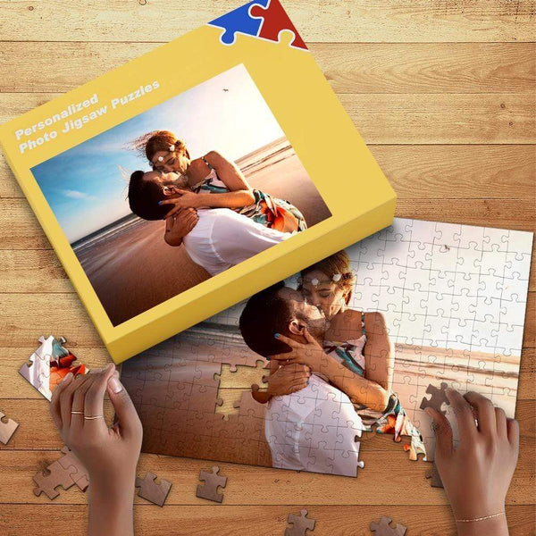 Custom Jigsaw Puzzle Anniversary Gifts For Lovers 35-1000 Piece Free Gift Box Included