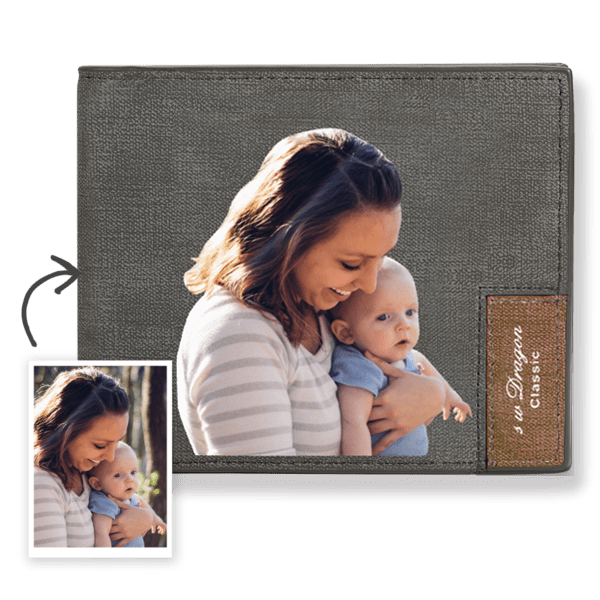 Custom Color Printing Wallet Father's Gift Mom And Son Short Bifold Wallet