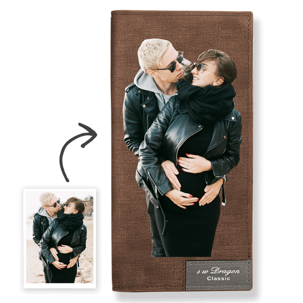 Custom Photo Wallet Best Couple Leather Long Wallet Color Printing