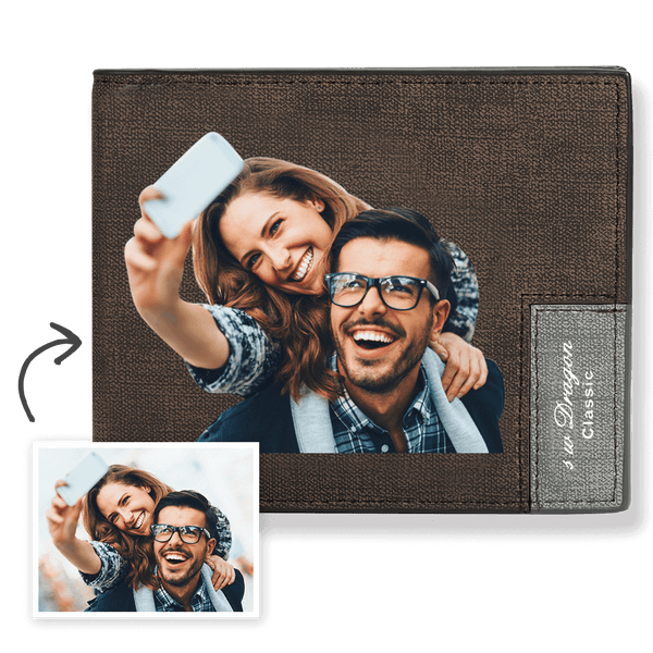 Custom Photo Wallet With Beloved Brown Color Printing Wallet