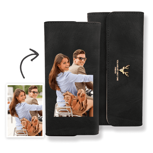 Custom Photo Wallet Women's Trifold Long Leather Wallet Color Printing