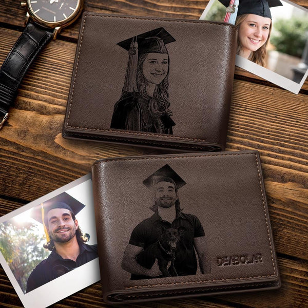 Custom Photo Wallet Dad And Daughter Father's Gift Short Style Wallet