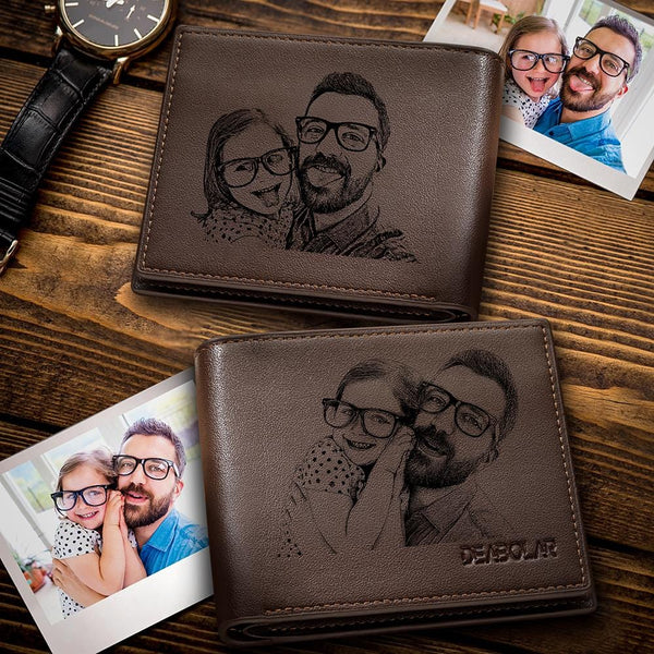 Custom Photo Wallet Father's Gift Short Style Wallet