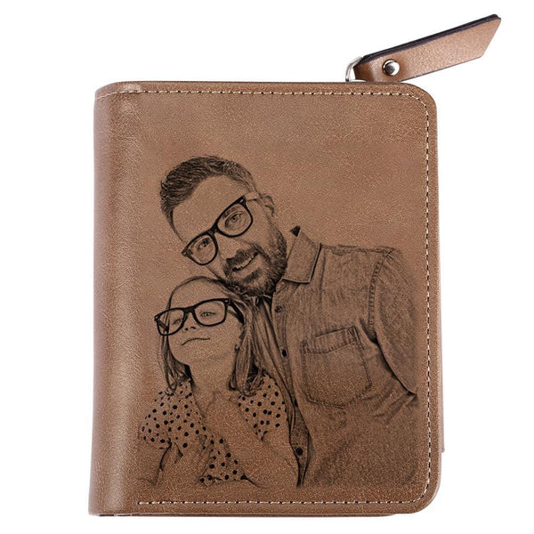 Custom Photo Wallet No.1 Dad Father's Gift Short Style Wallet