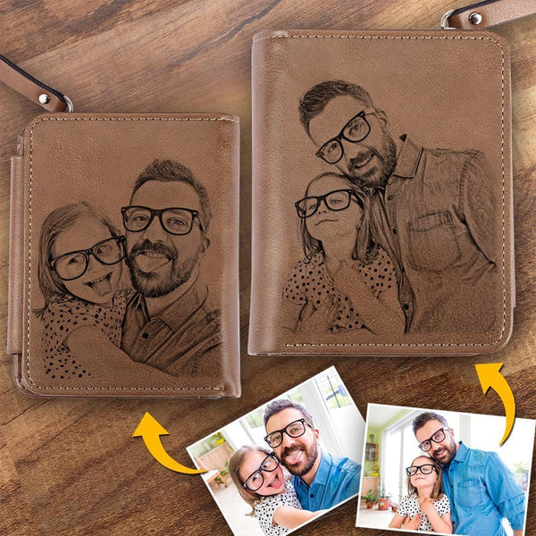 Custom Photo Wallet Love Dad Father's Gift Short Style Wallet
