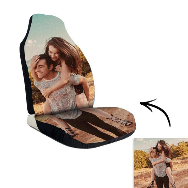 Custom Photo Car Seat Covers Print for Couples