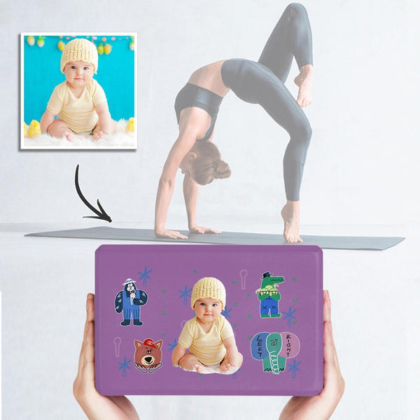 Custom Yoga Brick Photo Yoga Block Cute Baby