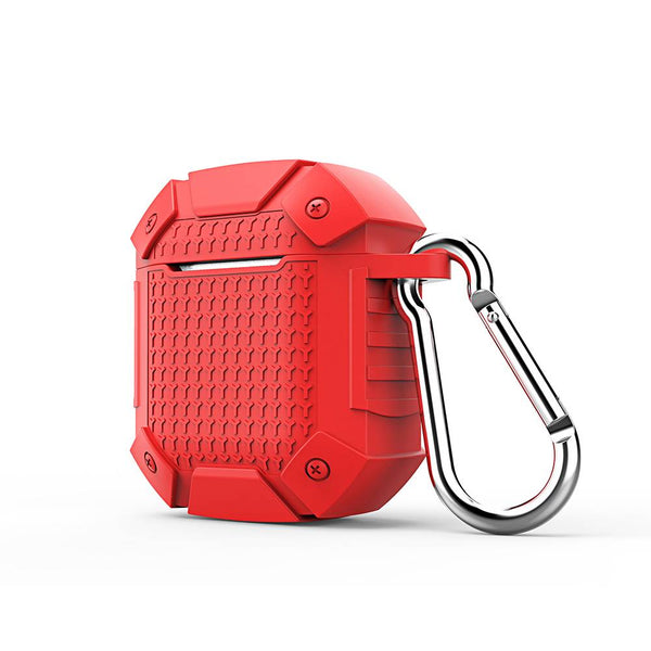 Armor Warrior Keychain AirPods  Earphone Case Red