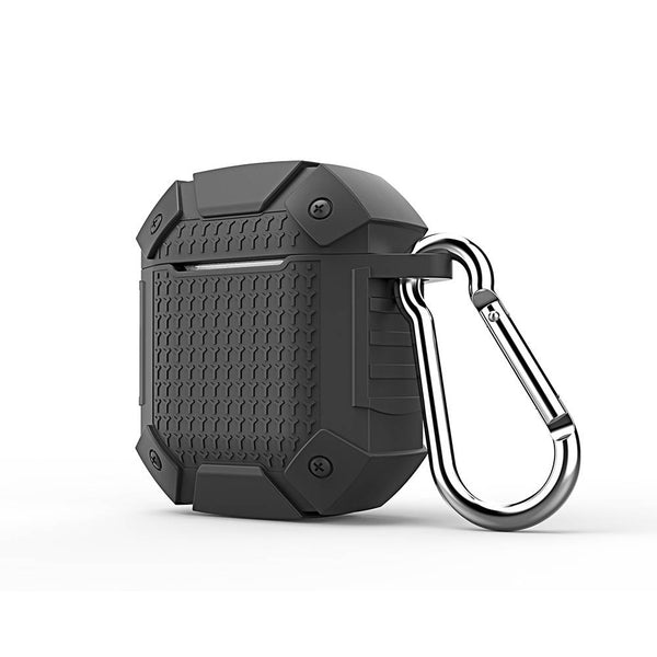 Armor Warrior Keychain AirPods  Earphone Case Black