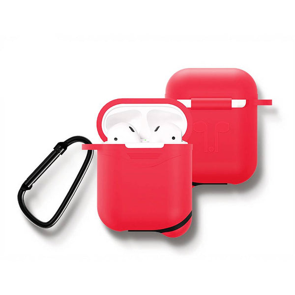 Custom Silicone Case AirPods  Earphone Case Red