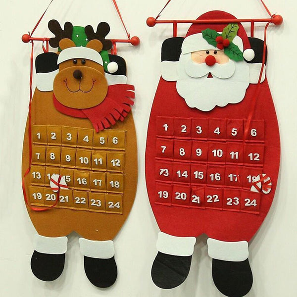 Christmas Advent Calendar 3D Hanging Advent Countdown Calendar