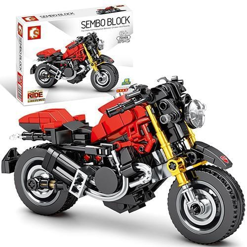 Motorcycle Building Blocks Gift For Home Stay
