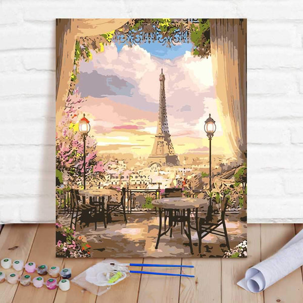 Paint By Numbers Custom Paint By Number Kits - Eiffel Tower