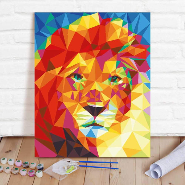 Paint By Numbers Custom Paint By Number Kits - Lion