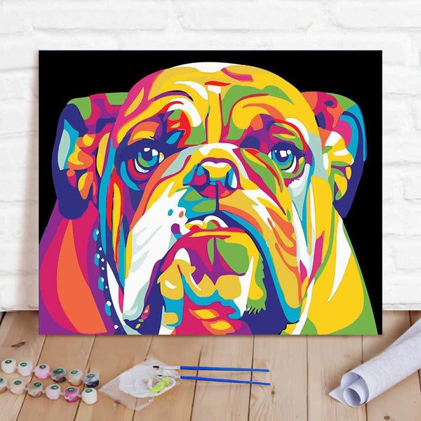 Paint By Numbers Custom Paint By Number Kits - Abstract Dog